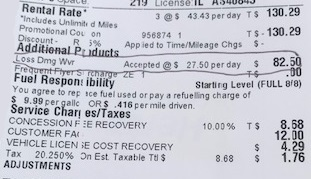 Countering Bad Information About the Rental Car LDW